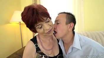 Granny Enjoys To Ride On A Young Dick