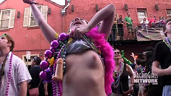 Mardi gras sex drunk video Mardi gras daytime flashing
