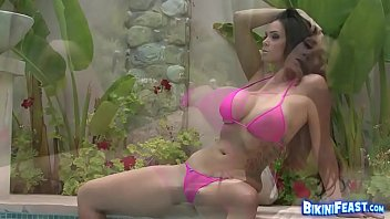 Gorgeous Alison Tyler Solo by the Pool