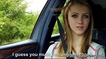 Blowjob road Beautiful beatrix gets banged hard in the backseat of the car
