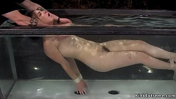 Water Bondage And Torment For Brunette