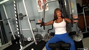 Ava Devine is a huge titty nympho that workouts on the cock
