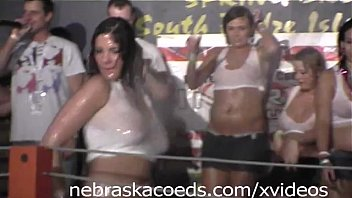 White shirt wet video xxx Taking girls home after wet t-shirt contest