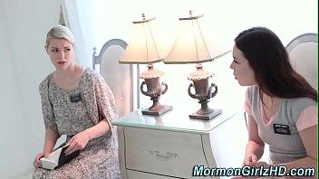 Tied up mormon gets oral