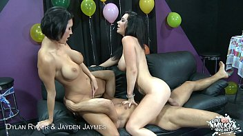 Big titted Dylan Ryder and Jayden Jaymes in threesome