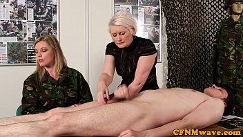 Femdom Army Milf Holly Kiss Tugs Recruit