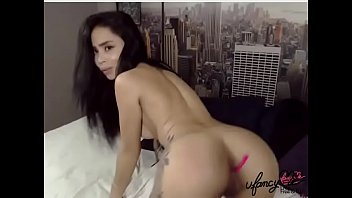 How to use a vibrator videos A hot latina girl playing on cam with a lush in her ass