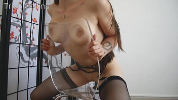 Teen masterbaiting vids - She rides a dildo on her chair until she cums hard.