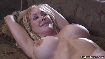 Milf of the year tied up and fucked
