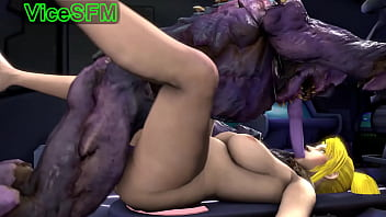 Catoon porn Samus aran fucked by a monster