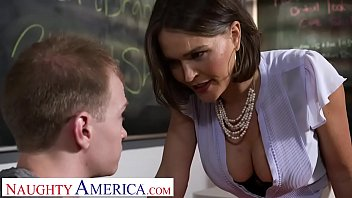 My first sex teacher napped Naughty america - professor krissy lynn takes her students cock