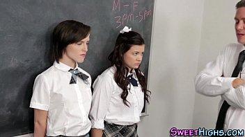 Highschool teens spunked
