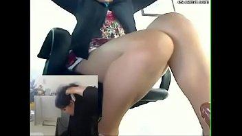 secretaria pajera masturbacion amateur dildo oficina