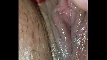 Wet pussy masturbating