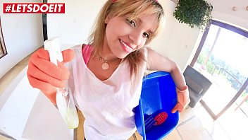 LETSDOEIT - Petite Colombian Maid Rides A Big BBC at Work
