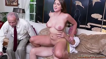 Old white guy and Ivy impresses with her phat bra-stuffers and ass