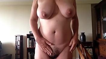 Big breasted mature woman masturbating. 06