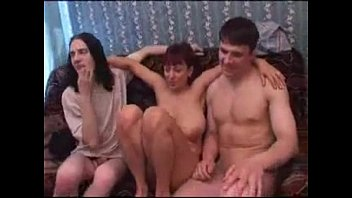 Russian milf and five boys