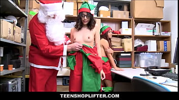 Sexy beach 3 christmas - Two tiny asian teens working as elves on christmas elle voneva and harmony wonder caught shoplifting and fucked by mall santa