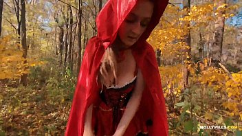 Red Ridinghood Fucked in Forest - Molly Pills - Public Cosplay POV