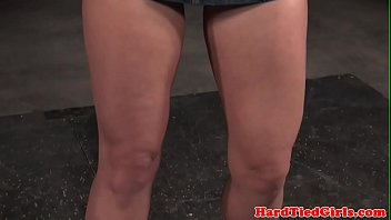 Blonde sub tied up and toyed by maledom