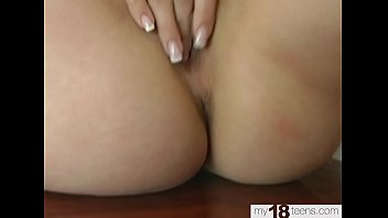 Blonde Sensual Fingering Pussy after College - Homemade