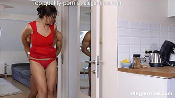 Cheating brunette MILF is fucked in the morning by her