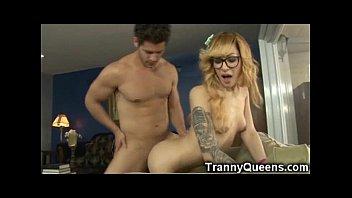Tranny face sitting - Emo tranny teen gets facial