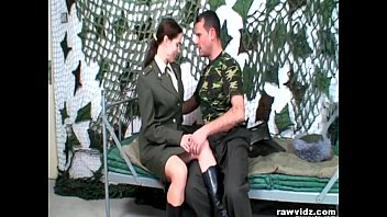 Army Girl Sucks Big Dicks
