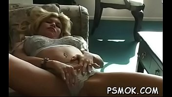Nice-looking slut enjoys playing with her friends' muff