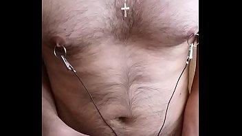 urethral sounding nipple electro stim cum part2