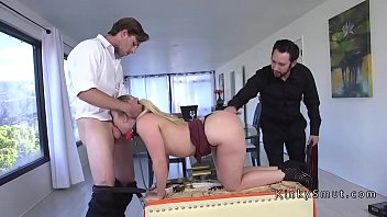 Submissive wife gets double penetration