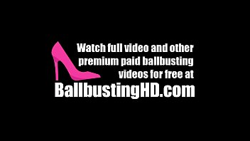 [BallbustingHD.com] BALLBUSTING THERAPY by mistress with BIG TITS AND BIG BUTTS! FEMDOM