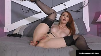 Stretched pantyhose Hot redhead kendra james stretches butthole pussy in hose