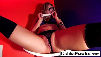 Sexy Dahlia plays with her favorite sex toy