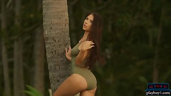 Big natural boobs Russian MILF Niemira strips outdoor