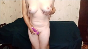 Girl Gets A Strong Orgasm From A Vibrator