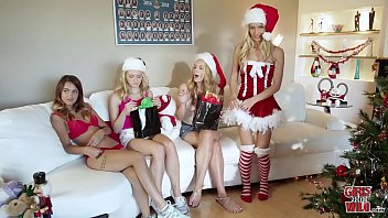 College wild lesbians - Girls gone wild - horny sorority sisters celebrate christmas with hot lesbian sex