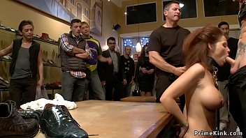 Pawg MILF anal fucked in public