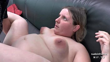 Fat mature pic galleries - Casting couch of a fat bbw french blonde sodomized and jizzed on tits by her bf