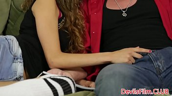 Oldvsyoung throated teen gets cum in mouth