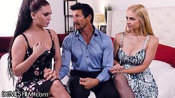 DevilsFilm Sexy Mistress Sarah Vandella Teaches His Wife How It Is Done! pornhub video