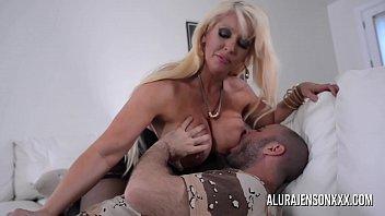 Busty blonde Alura Jenson loves a man in uniform