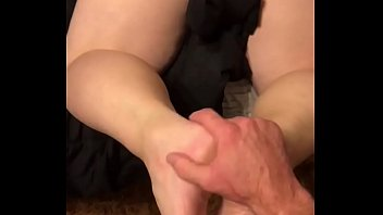 SEXY BLONDE WIFE BEGS FOR DADDYS LOAD IN HER LITTLE ASSHOLE