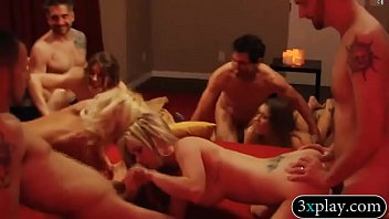 Horny swingers swap partner and orgy in Playboy mansion pornhub video