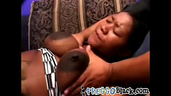 Pregnant tart with big nipples takes two big white dicks-2