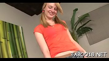 Delightsome teen with thick ass knows how to handle a thick prick