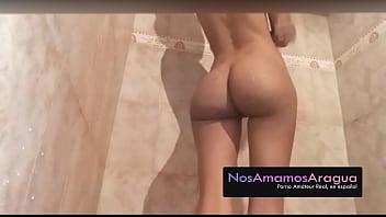 Tuputinovia  Big booty shaving pleasures herself in the shower