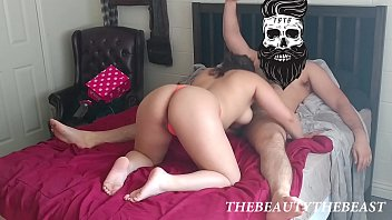 Getting A Good Cock Massage Thong Blowjob Fetish PAWG Big Bouncy Booty