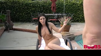 Big Boobs Aunt Fucked In The Pool Side